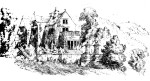 """Lea Hurst, the original home of the Nightingales in a sketch by Parthenope [Nightingale], is now an old people's home"" (Huxley, 55)."